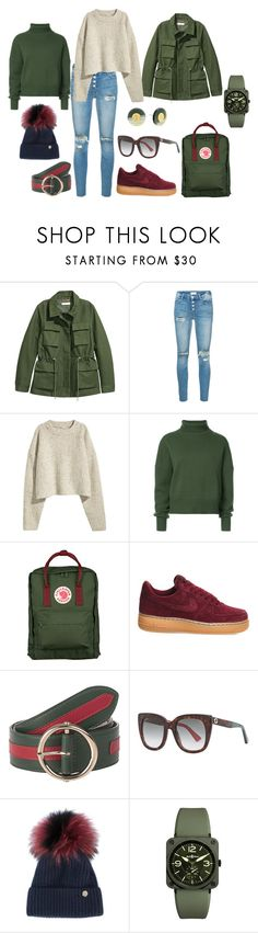 """""""Untitled #2050"""" by vera87 ❤ liked on Polyvore featuring Mother, H&M, Nili Lotan, Fjällräven, NIKE, Gucci, House of Lafayette, Bell & Ross and Tory Burch"""
