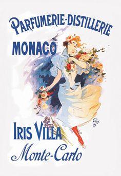 Iris Villa - Monte-Carlo - Monaco, by Jules Chéret