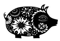 Piggy - Cut Paper Art | Flickr - Photo Sharing!
