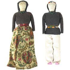 Vintage Native American Cloth Dolls