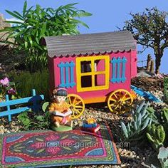 Memories of a Roadside Stand in the Gypsy Fairy Garden - Miniature Gardening #fairygarden