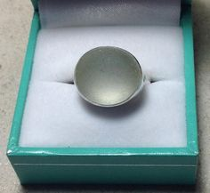 Handmade Sterling silver and sea glass ring - Round white on Etsy, £30.00
