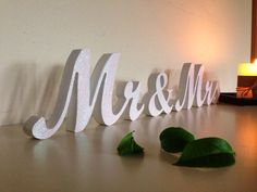 Mr and Mrs signs for sweetheart table  Glitter Sign Mr & by SunFla, $25.00