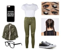 """sydney"" by sydneylolhahah ❤ liked on Polyvore featuring RE/DONE, Current/Elliott, Converse, Casetify and L.L.Bean"