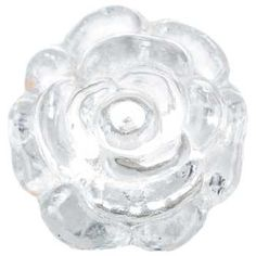 Clear Glass Rose Knob