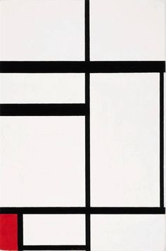 quincampoix:    Piet Mondrian, Composition No. I; Composition with Red, 1931  Fun Fact: this painting was once owned by Charmion von Wiegand!