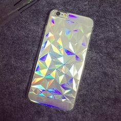 Aliexpress.com : Buy 2 IN1 Hologram Iridescent 3D Diamond Rainbow Opalescent Triangle Pastel Metallic Oil Print TPU Shell Case For iPhone 5 s 6 6plus from Reliable printing on paper bags suppliers on 3C Collection Wholesale Store | Alibaba Group