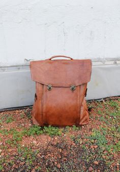 Handmade Vintage Leather Backpack by YVNLeather on Etsy, $320.00