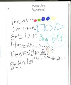 science notebook What are properties of mater?