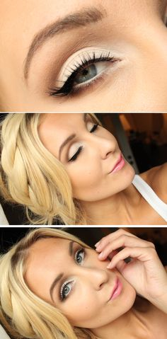 White eye makeup - a great everyday look!