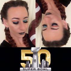 Alicia Ventimiglia  Instagram @aliciaisis77 | Makeup Artist | Cutcrease  #makeup #SuperBowl #SuperBowl50 #braids