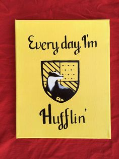 Hufflepuff Crest Acrylic Canvas Painting (10x8)