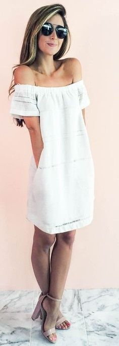#summer #warm #weather #outfits |  Little White Dress