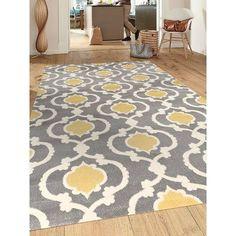 """World Rug Gallery Toscana Yellow Indoor Area Rug Rug Size: 7'10"""" x 10'2"""""""