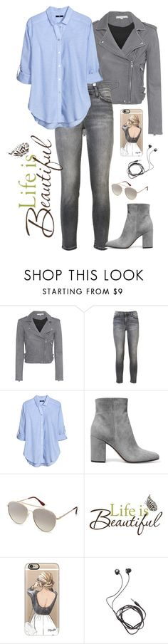 """""""Untitled #315"""" by kate-reads on Polyvore featuring IRO, Current/Elliott, H&M, Gianvito Rossi, Quay, Brewster Home Fashions, Casetify and Diane Von Furstenberg"""
