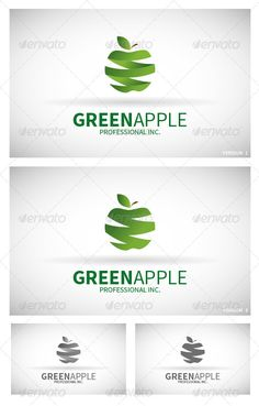 Logo Green Apple - Logo Design Template Vector #logotype Download it here: http://graphicriver.net/item/logo-green-apple/6190425?s_rank=785?ref=nexion