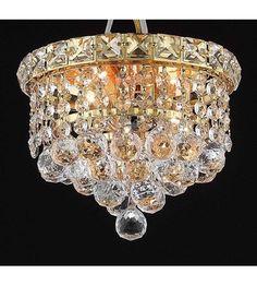 Elegant Lighting 2527F8G/RC Tranquil 2 Light 8 inch Gold Flush  Mount Ceiling Light in Royal Cut #LightingNewYork   200