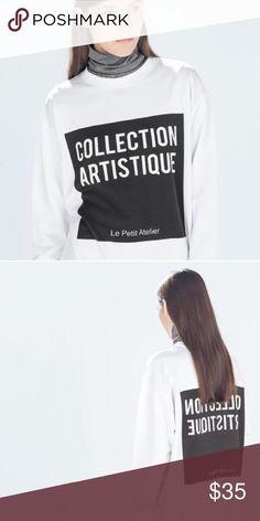 Zara Sweatshirt • Rare crewneck sweatshirt from Zara • brand new condition • extremely soft and comfortable Zara Tops Sweatshirts & Hoodies