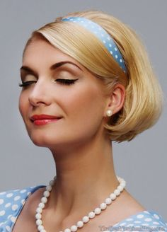 Vintage Hairstyle for Short Hair #vintagehairstyles #hairstyles http://tinkiiboutique.com/
