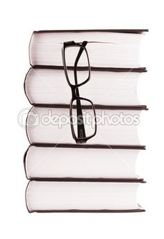 Stack of books and spectacles — Stock Image #1483848
