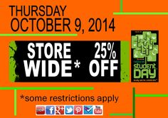 One of the fun things about National Student Day at the Beaver Bookstore is most EVERYTHING is 25% off!
