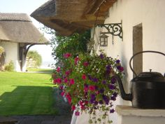 300 year old thatched seaside cottage lovingly renovated with all the comforts of home plus some!