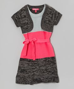 This Cherry Stix Knockout Pink Color Block Layered Dress - Girls by Cherry Stix is perfect! #zulilyfinds