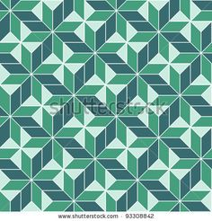 seamless geometric 3d abstract pattern. Colorful vector illustration by De-V, via Shutterstock