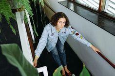 DISCO DENIM - JOTA-KENA bugs and bees / indoor greens /  embroidery | pinterest: @jotakena