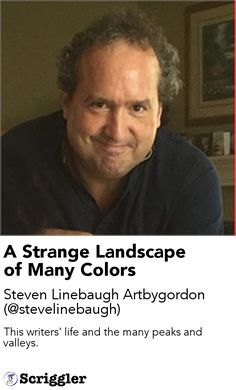 A Strange Landscape of Many Colors by Steven Linebaugh Artbygordon (@stevelinebaugh) https://scriggler.com/detailPost/story/115137 This writers' life and the many peaks and valleys.