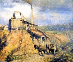 Frederick McCubbin - The old stone crusher (The quarry) 1911 Australian Painters, Australian Artists, Australian Vintage, Old Stone, Vintage Artwork, Artist Painting, Art Reproductions, Impressionism, Old Things