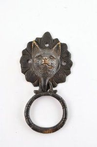 Antique brass fox face door knocker by Sufi Handicraft. $26.13. The Brass door knocker is 7 inch long and weighs about 434 grams. The handle will add unique character to your door.