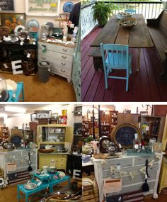 """Doug and Holly Bullock will sell a variety of primitives, furniture, cabinets, dishes, and more! Doug and Holly currently have a booth called """"Evie Lula's Eccentricities"""" at an antique shop in Anderson, South Carolina.  We are very excited to have them at our fair!"""