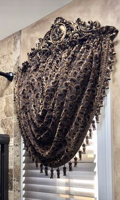 Reilly-Chance Leopard Valance combines bronze and black tones in a yummy leopard pattern chenille fabric! Curtains And Draperies, Luxury Curtains, Home Curtains, Kitchen Curtains, Luxury Bedding, Valances, Drapery, Elegant Home Decor, Elegant Homes
