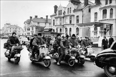 Image detail for -Italian Scooters and army parkas where popular with the Mods