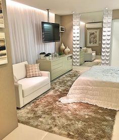 """Arq•Décor•Casa•Home•Interior no Instagram: """"Quando o quarto além de lindo é super acolhedor! Amei! Projeto Rossani Azambuja www.homeidea.com.br Face: /bloghomeidea #bloghomeidea…"""""""