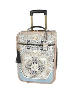 River Island Blue Floral Scarf Print Suitcase | very.co.uk