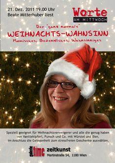 galerie time - www.galerie-time.at  Flyer und Plakat - Weihnachtslesung Fashion, Time Art, Weird, Moda, Fasion