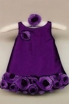 purple infant dress