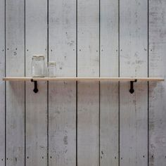 Oak Shelf with Iron Bracket | Furniture | Graham and Green