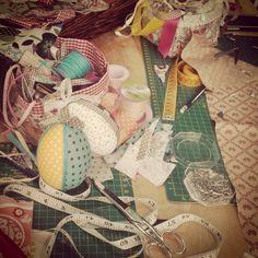 Huevos de pascua con patchwork sin agujas