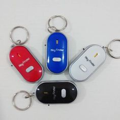 Whistle Sound Led Light Anti-lost Alarm Key Finder Locator Keychain Device Random Color Modern And Elegant In Fashion Anti-lost Alarm Security & Protection