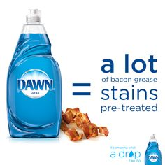 Bacon – awesome. Bacon on your clothes – not as awesome. Pre-treat grease stains with Dawn dish soap to give your clothes a fighting chance. #lifehacks For more information, go to http://www.dawn-dish.com/us/dawn/recipestradition/dawn-dish-soap-uses/laundry-stain-removal?utm_source=pinterest&utm_medium=socialmedia&utm_content=beyondsink&utm_campaign=altuseslaundry15