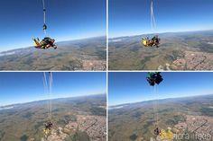 passo a passo da abertura do paraquedas no salto em Resende
