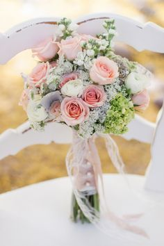 Romantic Blush Vintage Bridal Bouquet | Dina Remi Studios | See More! http://heyweddinglady.com/peach-and-blush-vintage-shabby-chic-wedding-...