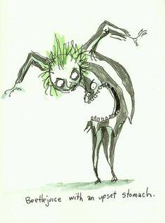 Makes me smile on poorly days...Tim Burton art