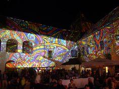 TRANZIT Festival (Kőszeg, Hungary) 2013 Night Projection's raypainting #tranzit #tranzitfestival #tranzitfestival2013 #nightprojection #raypainting #visual