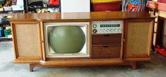 "midcenturymodernfreak: "" Quality Craftsmanship 1968 Curtis Mathes Color Console - Via "" Vintage Television, Television Set, Tv Sets, Audio Room, Vintage Tv, Old Tv, Good Ol, Mid Century Furniture, Tv On The Radio"