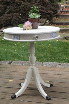 Gorgeous Pedestal Table Makeover!!