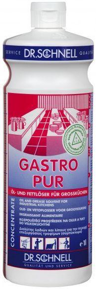 Gastro Pur Dr. Schnell detergent pentru toate suprafetele si pardoselile impermeabile si rezistente la solutii alcaline, in bucatarii industriale si unitati de preparare a alimentelor.